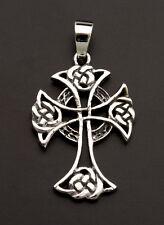 Crucifix Pendentif Croix Celtique Irlandaise entrelacs Argent 925-6.5g M9 25921