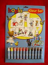 Hopla kleurset met 12 wasco's - Set à coloré - Hopla