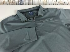 Men's Bills Khakis Quarter Zip Pull Over Size Large Gray Polyester