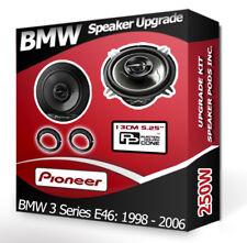 BMW 3 Series E46 Rear Door Speaker Pioneer car speakers + adapter rings 250W