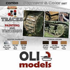 Tracks Painting & Weathering Color & Pigment Combo Set 6x20ml Lifecolor Spg2