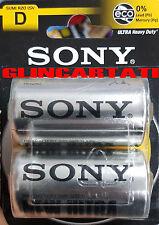 20 SONY Pile Batterie 10 BLISTER TORCIA D HEAVY DUTY 1.5V .Pila ZINCO CARBONE