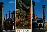 Postkarte Postcard ايران Persien TEHERAN Multi-View with 3 photos m. 3 Fotos AK