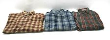 Lot Of 3 Eddie Bauer Mens Medium Shirts Casual Career Long Sleeve Button Downs