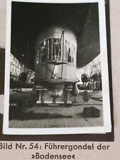 1933 Zeppelin Weltfahrten Cigarette Card German Photo 54 Gondola Bodensee