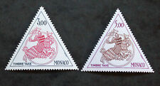 Timbre MONACO - Yvert et Tellier Taxes n°73 et 74 n** Mnh (Cyn35) Stamp