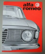 ALFA ROMEO GIULIA SPRINT GT & CABRIOLET orig c1965 1966 Sales Brochure - GTC