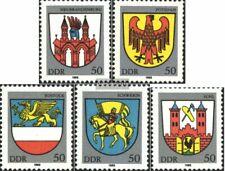 DDR 2934-2938 (kompl.Ausgabe) postfrisch 1985 Stadtwappen