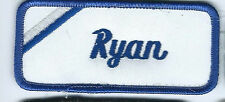 Ryan name tag patch 1-5/8 X 3-5/8