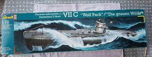 """Revell 05015 1/72 VIIC """"Wolf Pack"""" German U-Boat Submarine.  Opened box"""