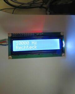 DDS Frequenzgenerator 1 Hz - 5.MHz, Sinus, Dreieck, Rechteck, Auflösung 1 Hz
