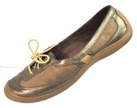 COLE HAAN Women's D23258 Brown Leather Driving Loafer Shoes Size 7.5 B