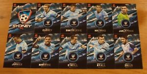 2016/17 Tap N Play Hyundai A-League Cards x 10 'Sydney FC'