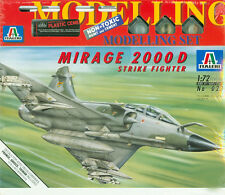 Mirage 2000 D Strike Fighter Italeri 023, 1:72 inkl. Farben Pinsel Kleber Decals
