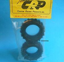 """CRP 4233 Rear Tires 1.9 - 2.0"""" Pin Spike Tamiya Kyosho Yokomo Vintage RC Part"""