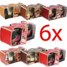 6 X SCENTED CANDLES IN GLASS POT FRAGRANCE HOME CANDLE GIFT SET MOOD 1oz NEW