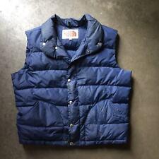 Men's Vintage Brown Label The North Face Navy Goose Down Puffer Vest Jacket Sz L