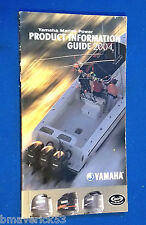 Yamaha Outboard Motor Product Information Guide Book 2004 Props, Rpm Specs, Etc