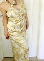 HOWARD SHOWERS WOMENS MAXI DRESS ZIP BACK HALTER NECK LINED MADE IN AU SZ 8