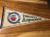 Vintage CFL Toronto Argonauts 30x12 Felt Pennant, ProPower AKAI, Rare, Unique