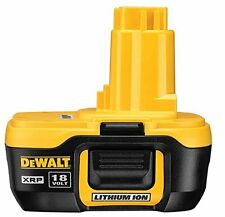DeWalt 18V XRP Li Ion Lithium Ion Nano Battery DC9180    dc9182