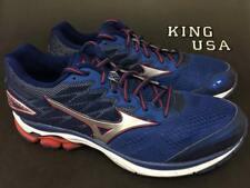 Men's Mizuno Wave Rider 20 Running Athletic Shoes Deep Blue size 14