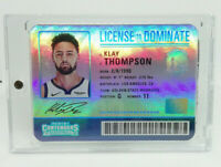 2019-20 Panini Contenders Klay Thompson License to Dominate Insert No.17 SSP NBA