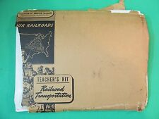 Assoc. Of American Railroad Trans. Kit For Teachers, 1945 Manual / 56 Photos