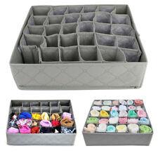 30 Grid Underwear Sock Storage Organizer Drawer Bra Pants Divider Tidy Wardrobe