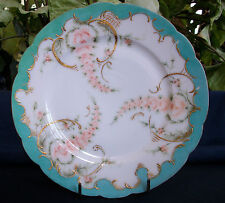 "HAVILAND-H&Co LIMOGES (1888-96) DISPLAY PLATE-7 1/2""- ROSES! XLNT! GILT MORIAGE!"