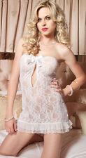 Women Sexy Lace Lingerie Babydoll G-String Thong Underwear Nightwear (6206)