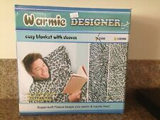 Warmie Designer COZY BLANKET WITH SLEEVES UNISEX ZEBRA