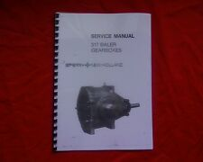 New Holland 317 hay baler GEARBOX  WORKSHOP / Service Manual book