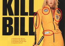 FANCY DRESS HALLOWEEN COSTUME PARTY SERIES: 5-PATCH SET as seen on KILL BILL