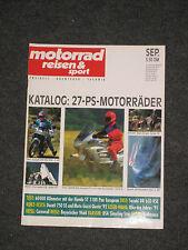 MOTORRAD Reisen u. Sport  9/91 DR650RSE   ST1100Pan Europan  BSA Single