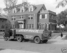 Historical Photograph of Deep Rock Oil Delivery Truck Omaha Nebraska 1938  8x10