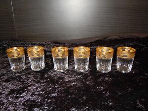 6 Schnapsgläser Gläser Saint Louis Frankreich Thistle Gold