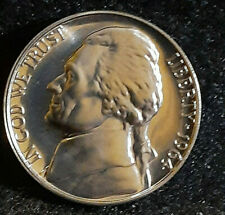 1962 Proof Jefferson Nicklels Minted in Philadelphia With a Mirrored Finish