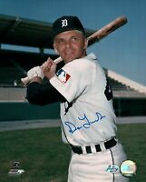 Dick Tracewski Signed 8X10 Photo Autograph Detroit Tigers Pose w/Bat Auto COA