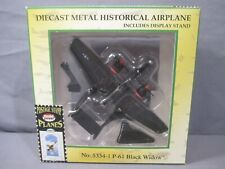Postage Stamp Planes P-61 BLACK WIDOW Diecast medal Historical Airplane jet WWII