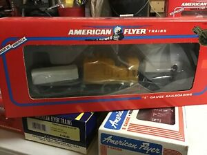 S Scale American Flyer #6-48513 CSX Flatcar with Generator nos,3/16 new