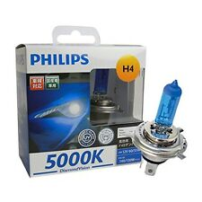 NEW Philips H4 Diamond Vision 5000K White Halogen Bulbs DV-H4-3 With Tracking