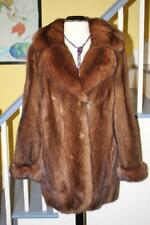 STUNNING! Top Quality LUNARAINE MINK Fur Coat REAL SABLE Fur Collar And Cuffs L