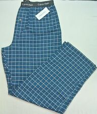 Calvin Klein Men's Pajama Lounge Pants XL Blue White Cotton Flannel Plaids New