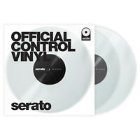 Serato 12‑Inch Official Control DJ Scratch Live Vinyl Record Pair Clear