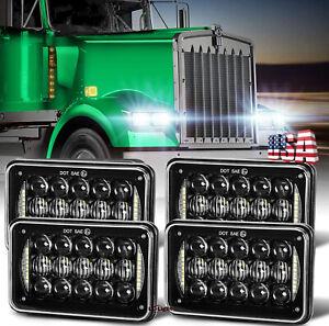"4pc 4X6"" 5D LED Headlights For Freightliner Classic FLD112 FLD120 XL Semi Trucks"