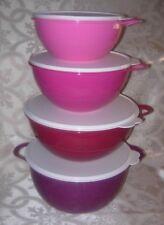 TUPPERWARE Thatsa Bowl Set of 4 Mixing Prep Storage Purples Pinks