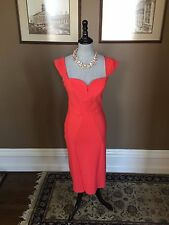 $795 LA PETITE ROBE DI CHIARA BONI COUTURE SEAMED MILADY SF CORAL DRESS SZ 44/8