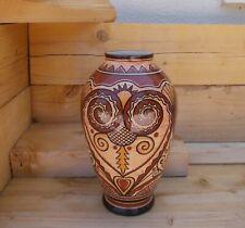 Ancienne faience Henriot à Quimper vase signé Jean Caer