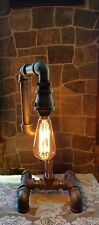 Industrial Vintage  Steampunk style Lamp with edison bulb